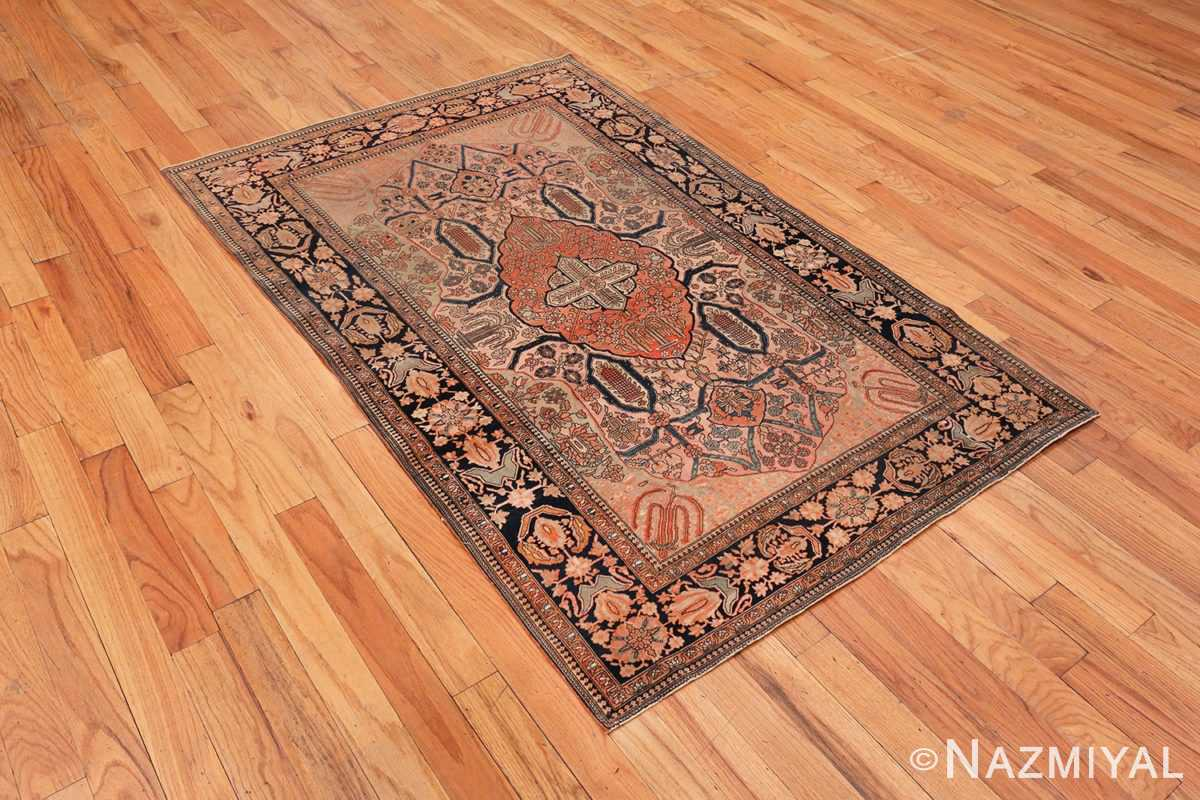 Image of Antique Persian Mohtashem Kashan Floral Rug #70000 from the Collection of Nazmiyal Antique Rugs NYC