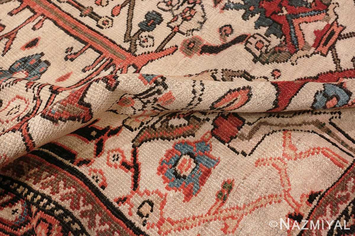 Image of Delicate Pile of Large Antique Ivory Persian Sultanabad Carpet #70014 from the collection of Nazmiyal Antique Rugs NYC