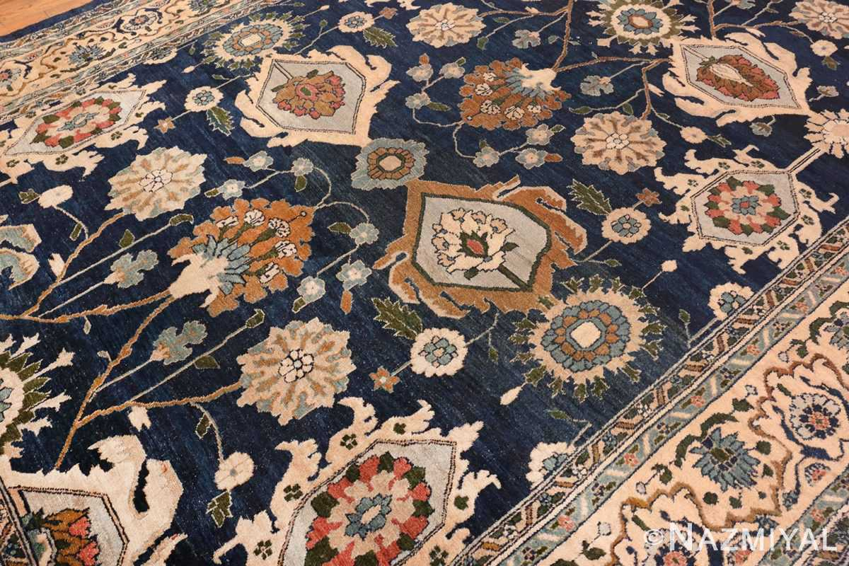 Picture of Details of Large Blue Antique Persian Malayer Rug #70010