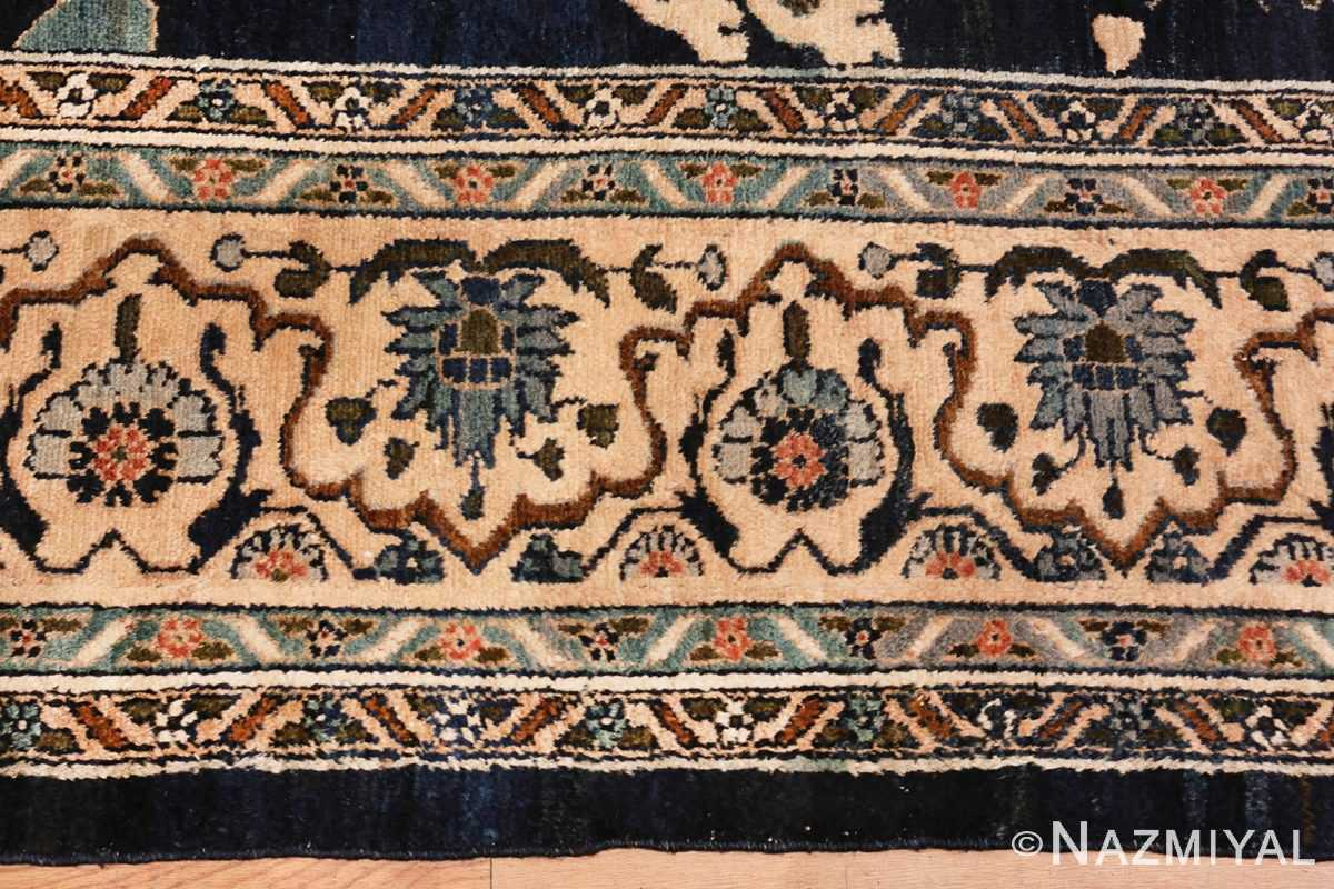 Image of Edge of Large Blue Antique Persian Malayer Rug #70010