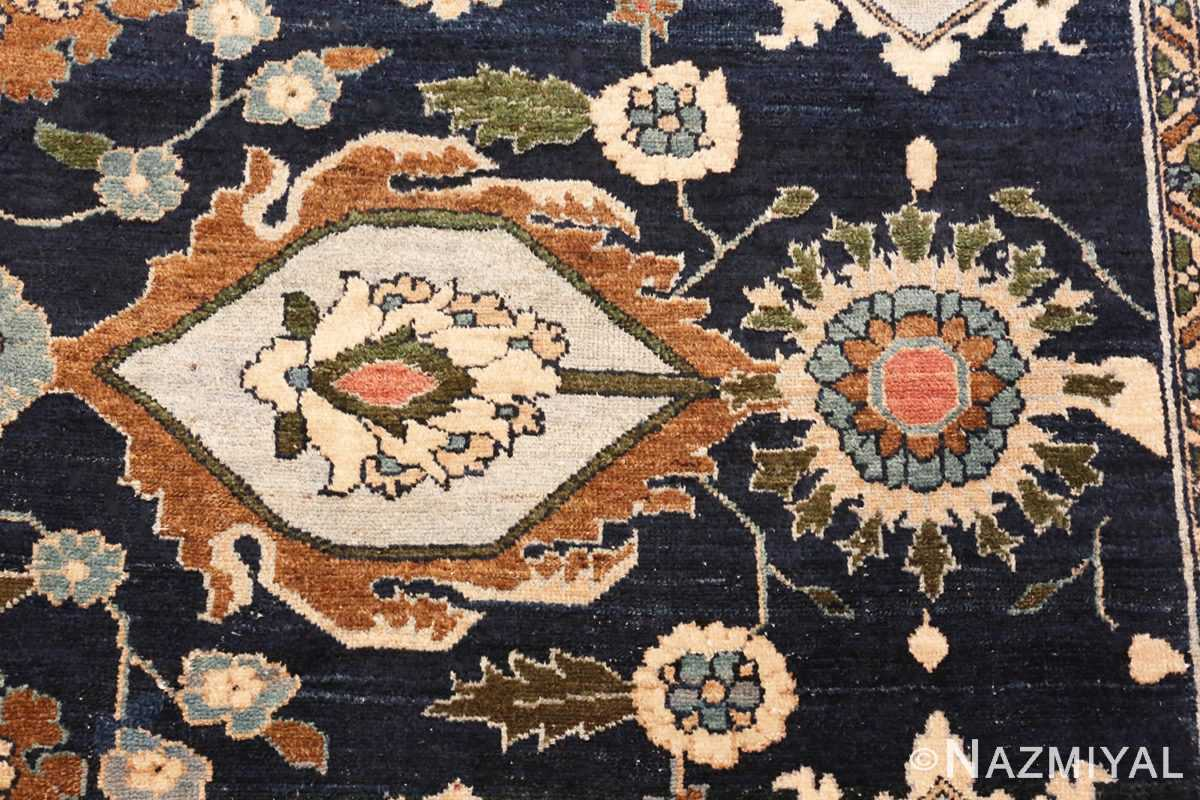 Image of Details Large Blue Antique Persian Malayer Rug #70010