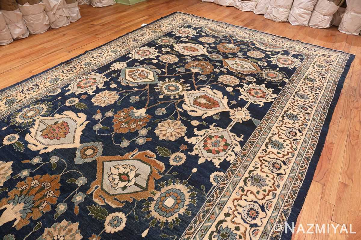 Image of Large Blue Antique Persian Malayer Rug #70010