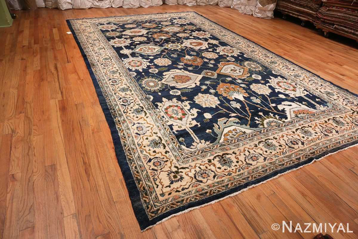 Large Blue Antique Persian Malayer Rug #70010