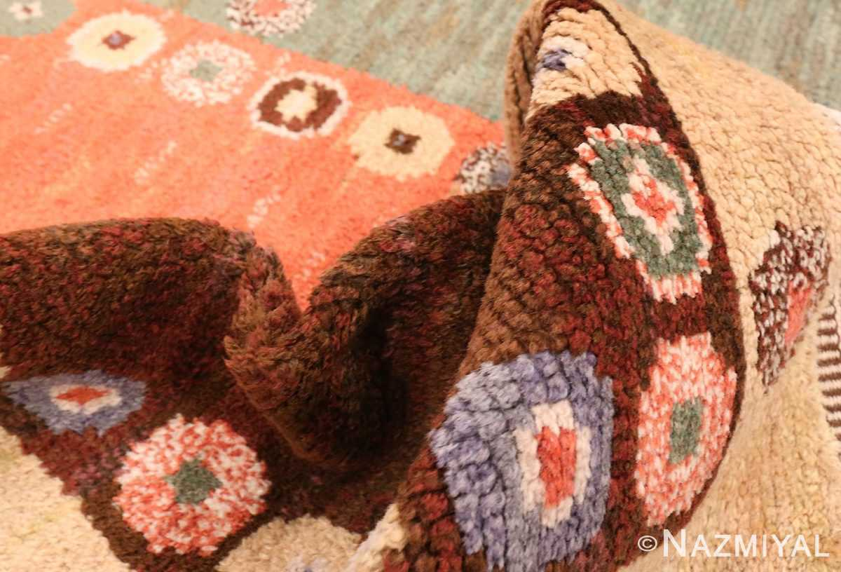 Picture of the pile of Vintage Scandinavian Marta Maas Fjetterstrom Tusenskonan Carpet 70024