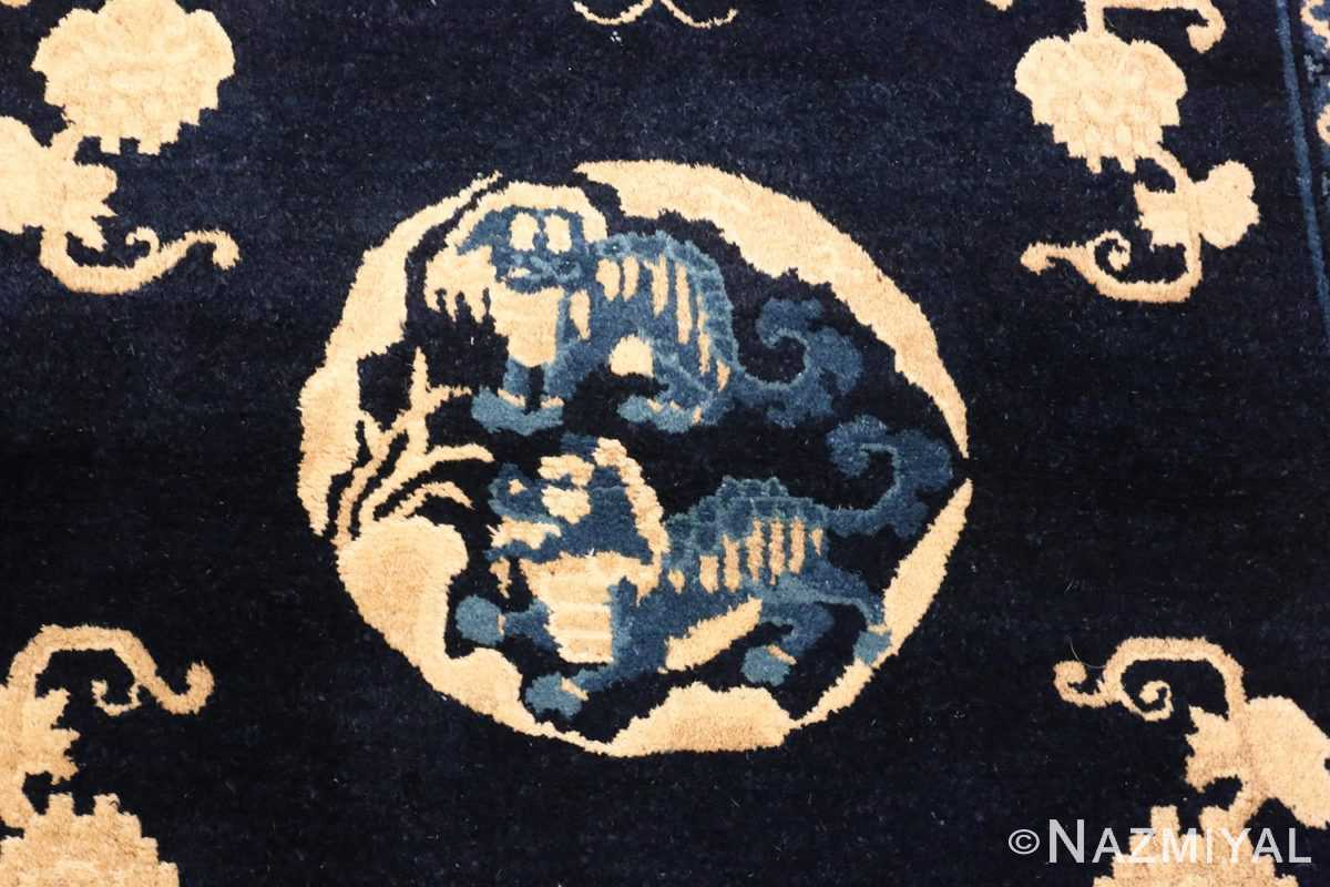 Image of Center of Small Antique Peking Foo Dog Chinese Rug #70039 from the collection of Nazmiyal Antique Rugs NYC