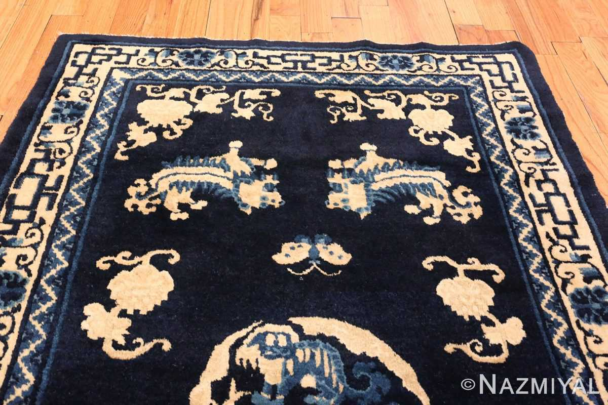 Small Antique Peking Foo Dog Chinese Rug #70039 from the collection of Nazmiyal Antique Rugs NYC