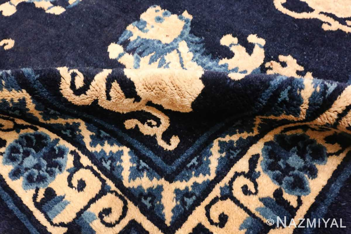 Image of Delicate Pile of Small Antique Peking Foo Dog Chinese Rug #70039 from the collection of Nazmiyal Antique Rugs NYC