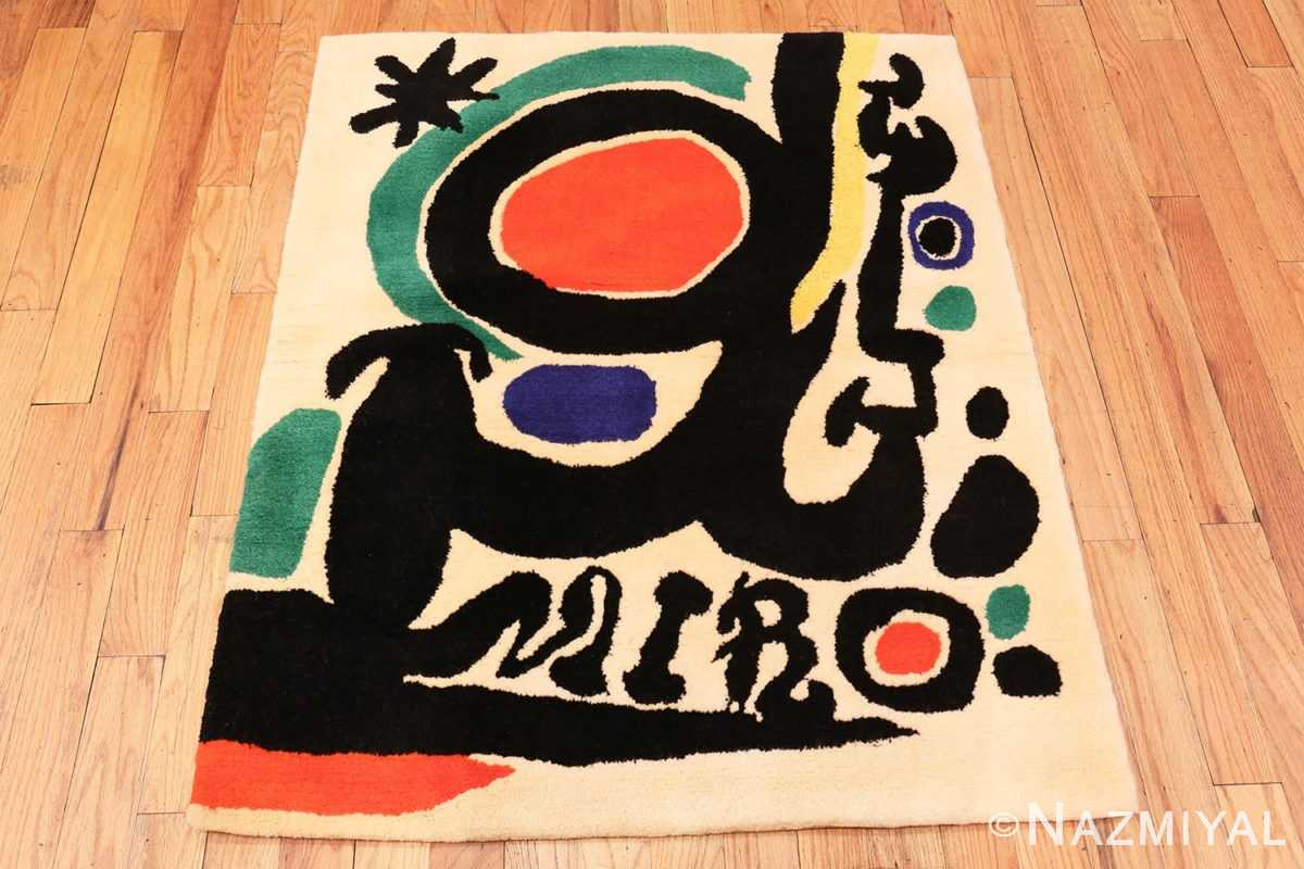 Image of Small Square Vintage Miro Art Rug #70034 from the collection of Nazmiyal Antique Rugs NYC