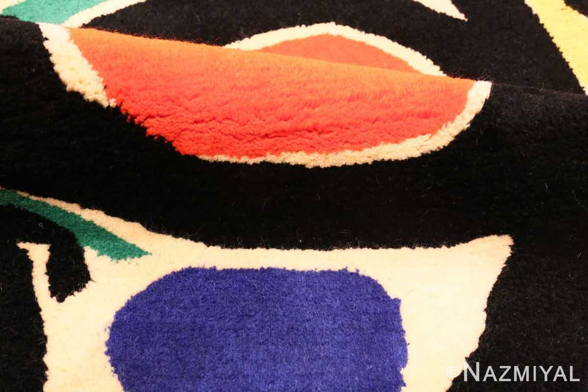 Image of Pile of Small Square Vintage Miro Art Rug #70034 from the collection of Nazmiyal Antique Rugs NYC