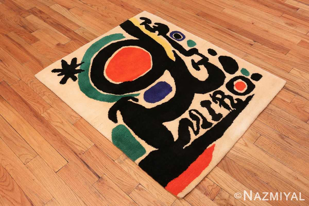 of Small Square Vintage Miro Art Rug #70034 from the collection of Nazmiyal Antique Rugs NYC