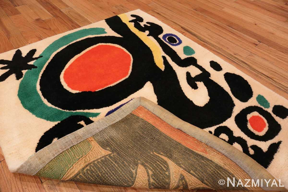 Picture of Weave of Small Square Vintage Miro Art Rug #70034 from the collection of Nazmiyal Antique Rugs NYC