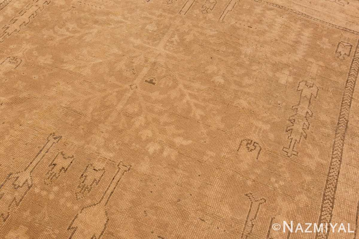 Image of Texture of Soft Antique Decorative Turkish Oushak Rug #49743 from the collection of Nazmiyal Antique Rugs NYC