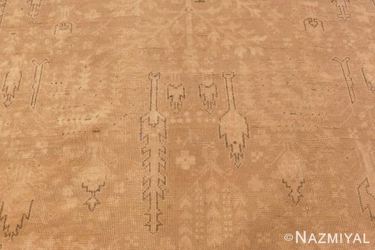 Image of Details of Soft Antique Decorative Turkish Oushak Rug #49743 from the collection of Nazmiyal Antique Rugs NYC