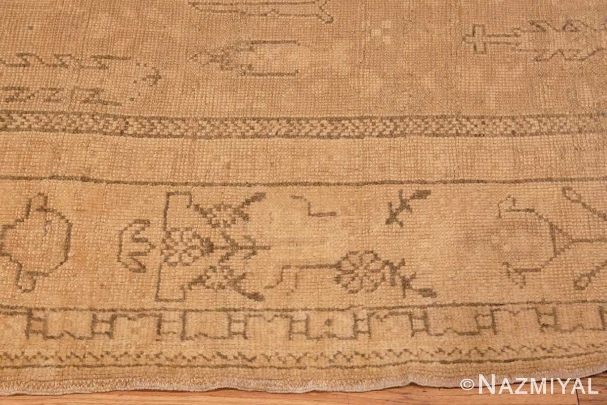 Image of Border of Soft Antique Decorative Turkish Oushak Rug #49743 from the collection of Nazmiyal Antique Rugs NYC