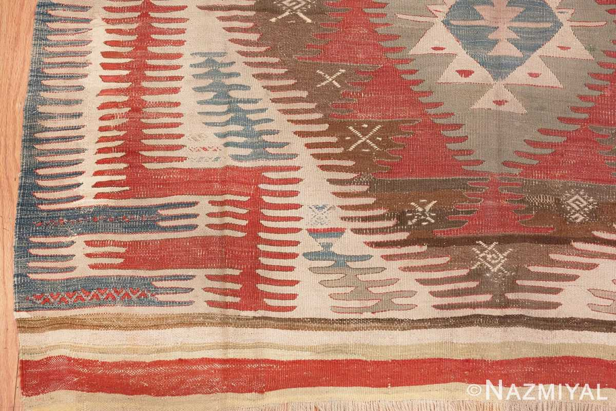 Corner Image of Tribal Antique Flat Weave Turkish Kilim #70009 from the collection of Nazmiyal Antique Rugs NYC
