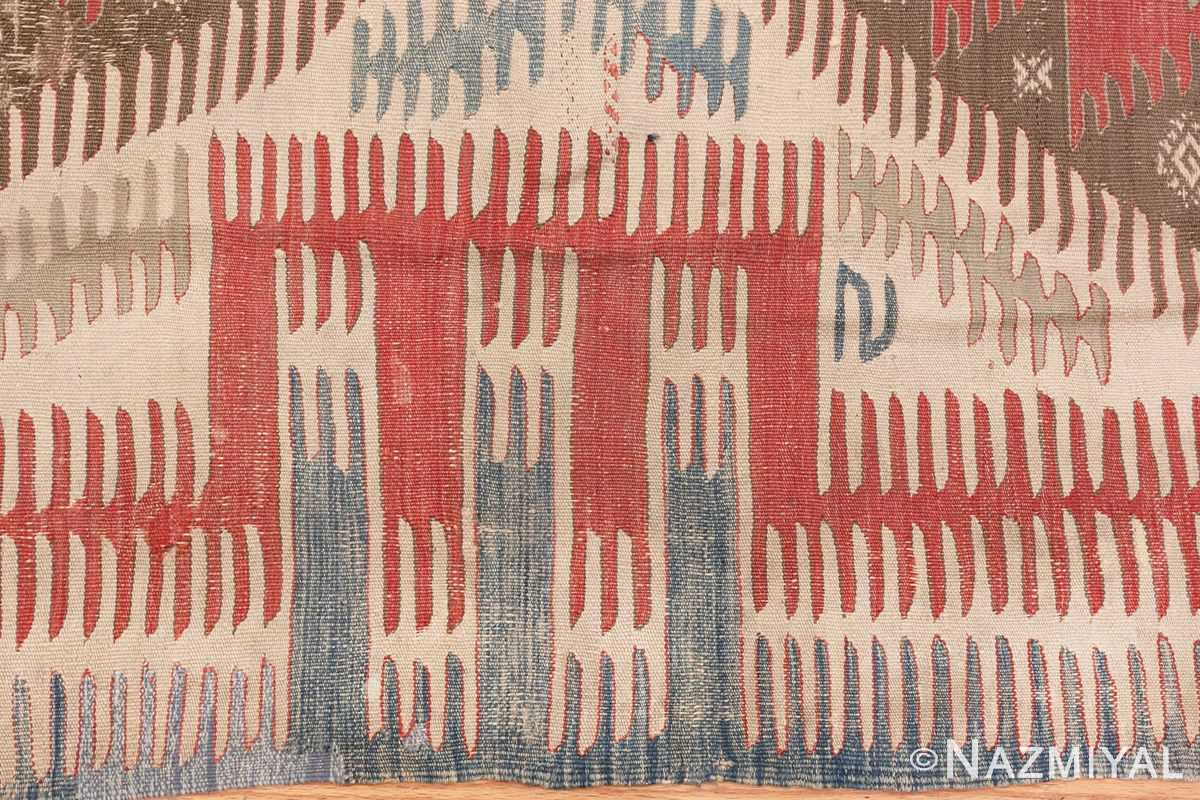 Image of Edge of Tribal Antique Flat Weave Turkish Kilim #70009 from the collection of Nazmiyal Antique Rugs NYC