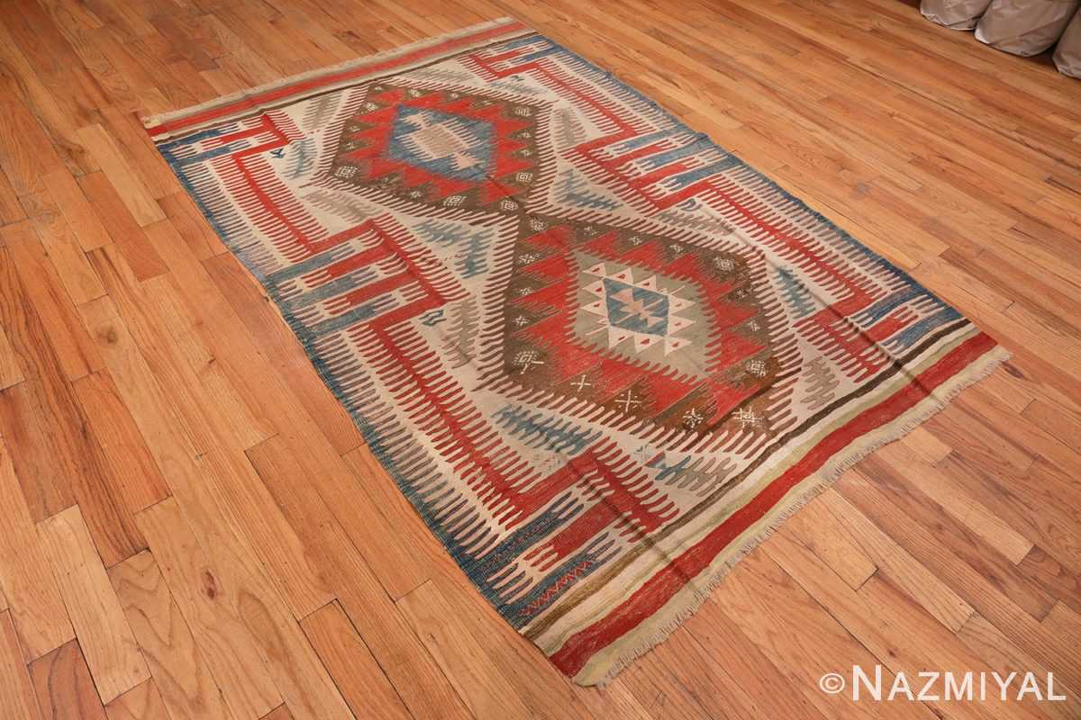 Image of Tribal Antique Flat Weave Turkish Kilim #70009 from the collection of Nazmiyal Antique Rugs NYC