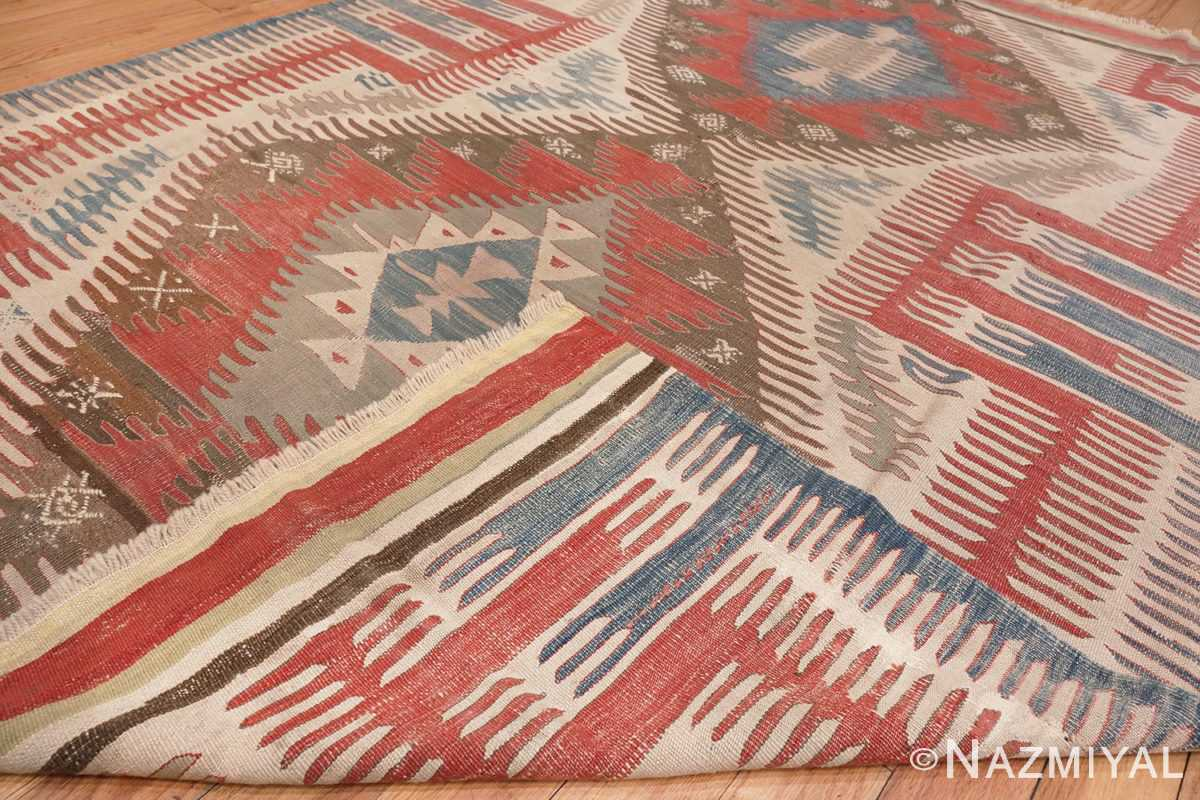 Image of Weave of Tribal Antique Flat Weave Turkish Kilim #70009 from the collection of Nazmiyal Antique Rugs NYC
