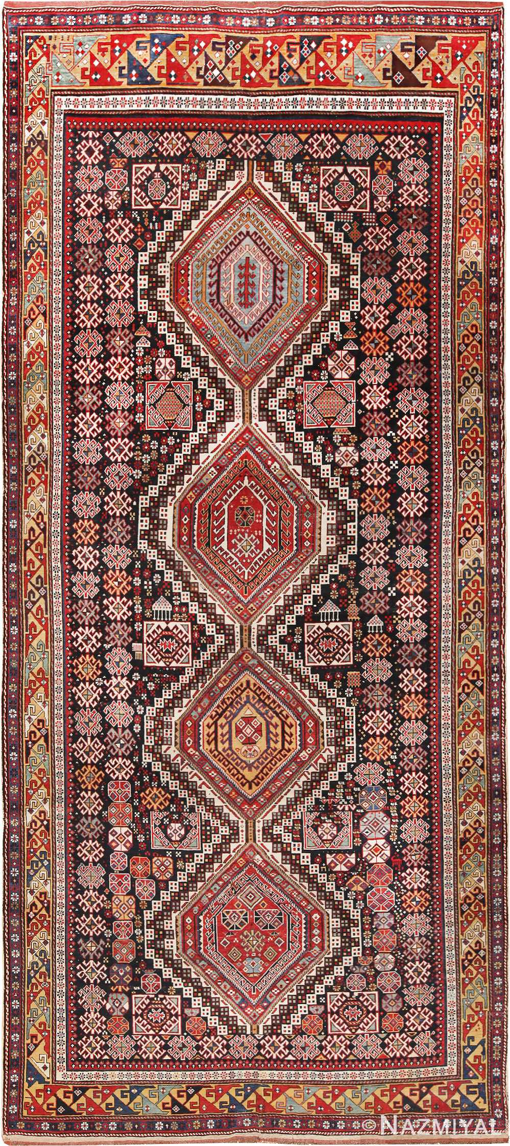 Picture of the Tribal Collectible Antique Caucasian Shirvan Rug #70038 from Nazmiyal Antique Rugs in NYC