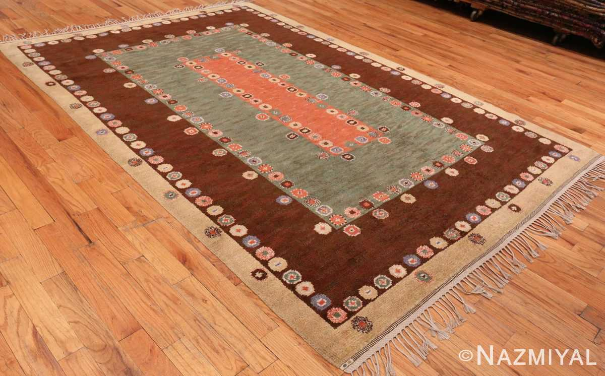 Side Picture of Vintage Scandinavian Marta Maas Fjetterstrom Tusenskonan Carpet 70024