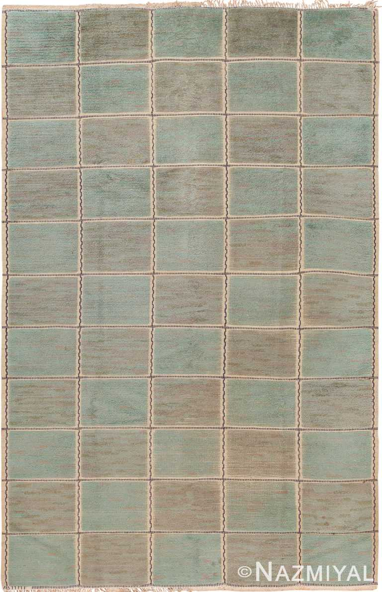 Vintage Pile Scandinavian Marta Maas Gyllenrutan Gron Rug #70051 from the collection of Nazmiyal Antique Rugs NYC