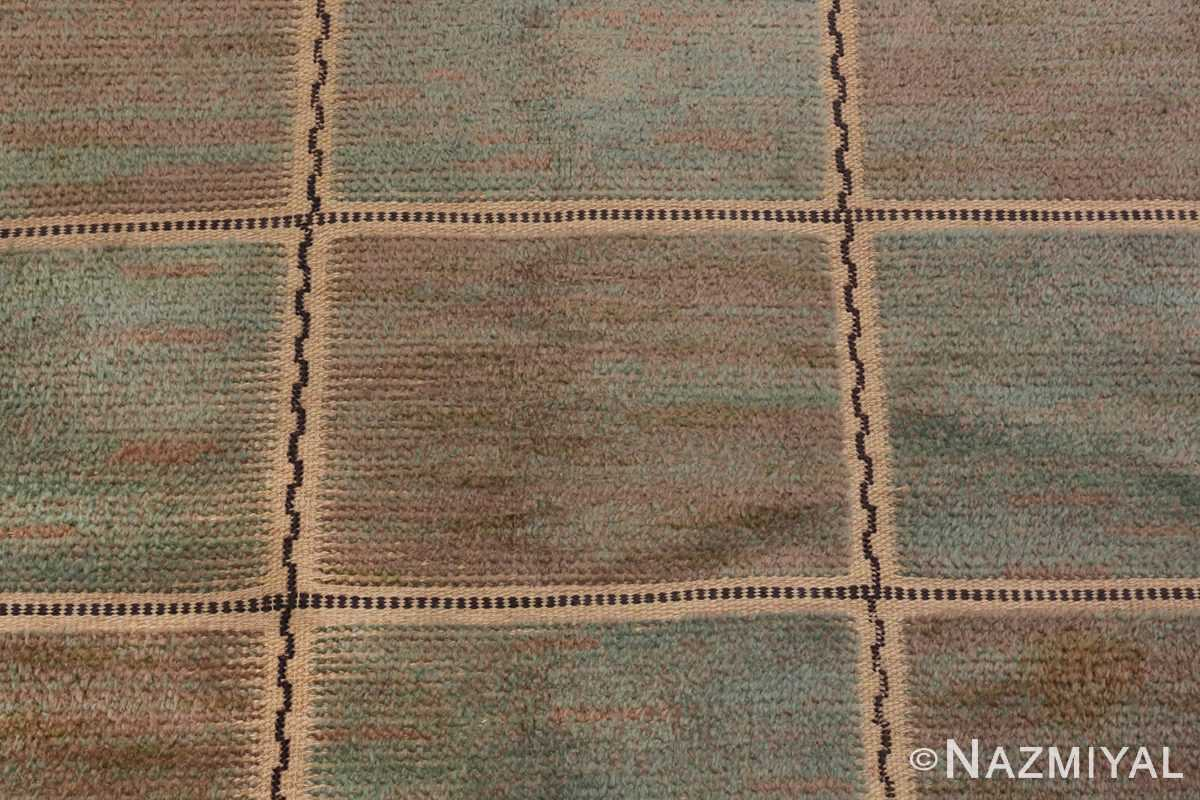 Image of Details of Vintage Pile Scandinavian Marta Maas Gyllenrutan Gron Rug #70051 from the collection of Nazmiyal Antique Rugs NYC.