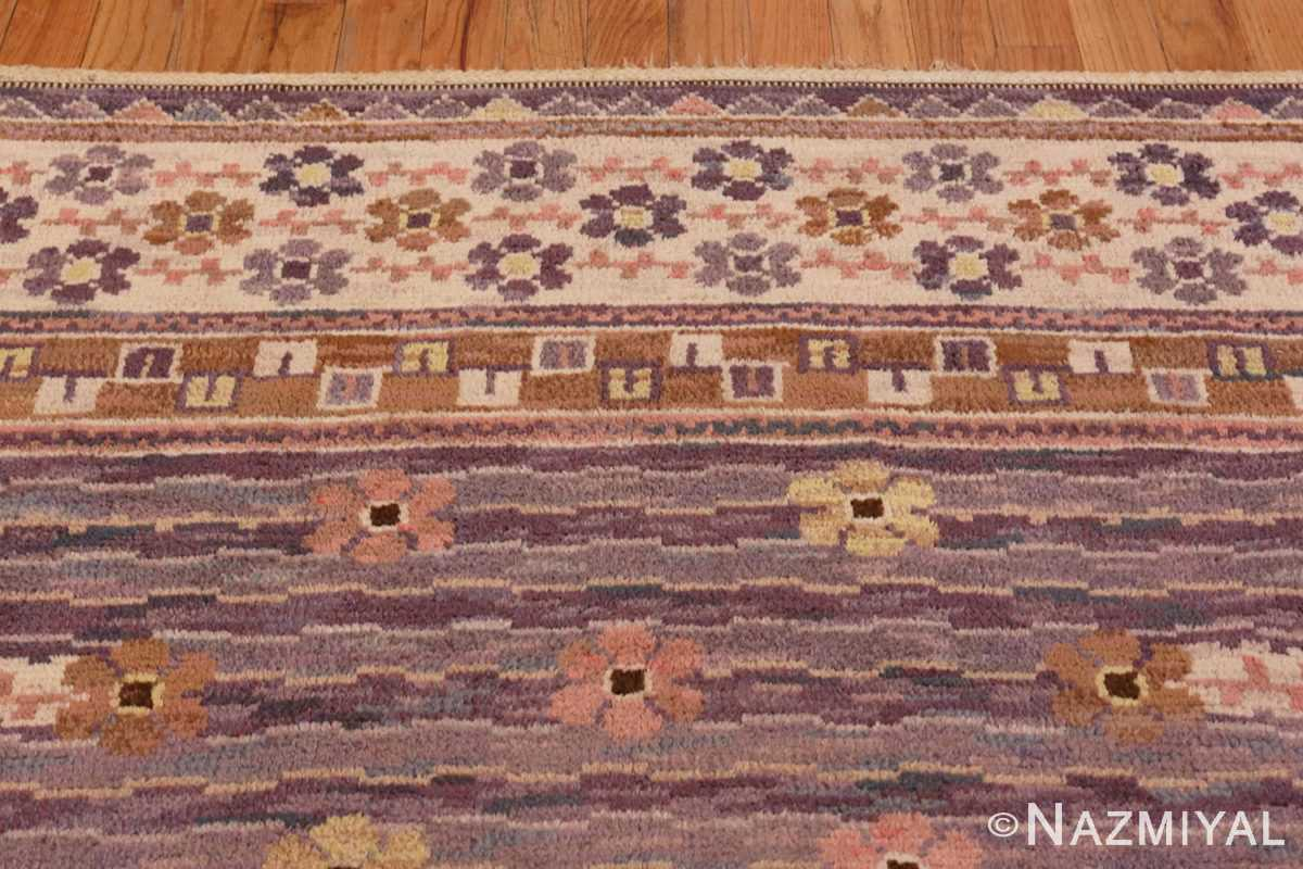 Image of Floral Details of Vintage Pile Scandinavian Marta Maas Steninge Rug #70050 from the collection of Nazmiyal Antique Rugs NYC