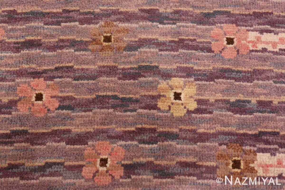 Image of Floral Details Vintage Pile Scandinavian Marta Maas Steninge Rug #70050 from the collection of Nazmiyal Antique Rugs NYC