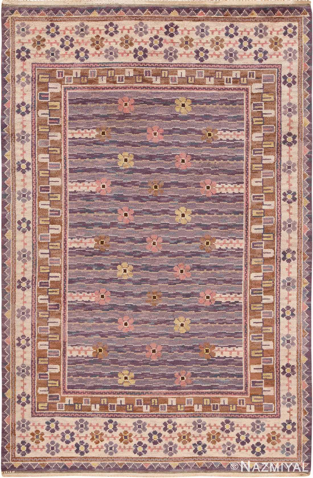 Image of Vintage Pile Scandinavian Marta Maas Steninge Rug #70050 from the collection of Nazmiyal Antique Rugs NYC