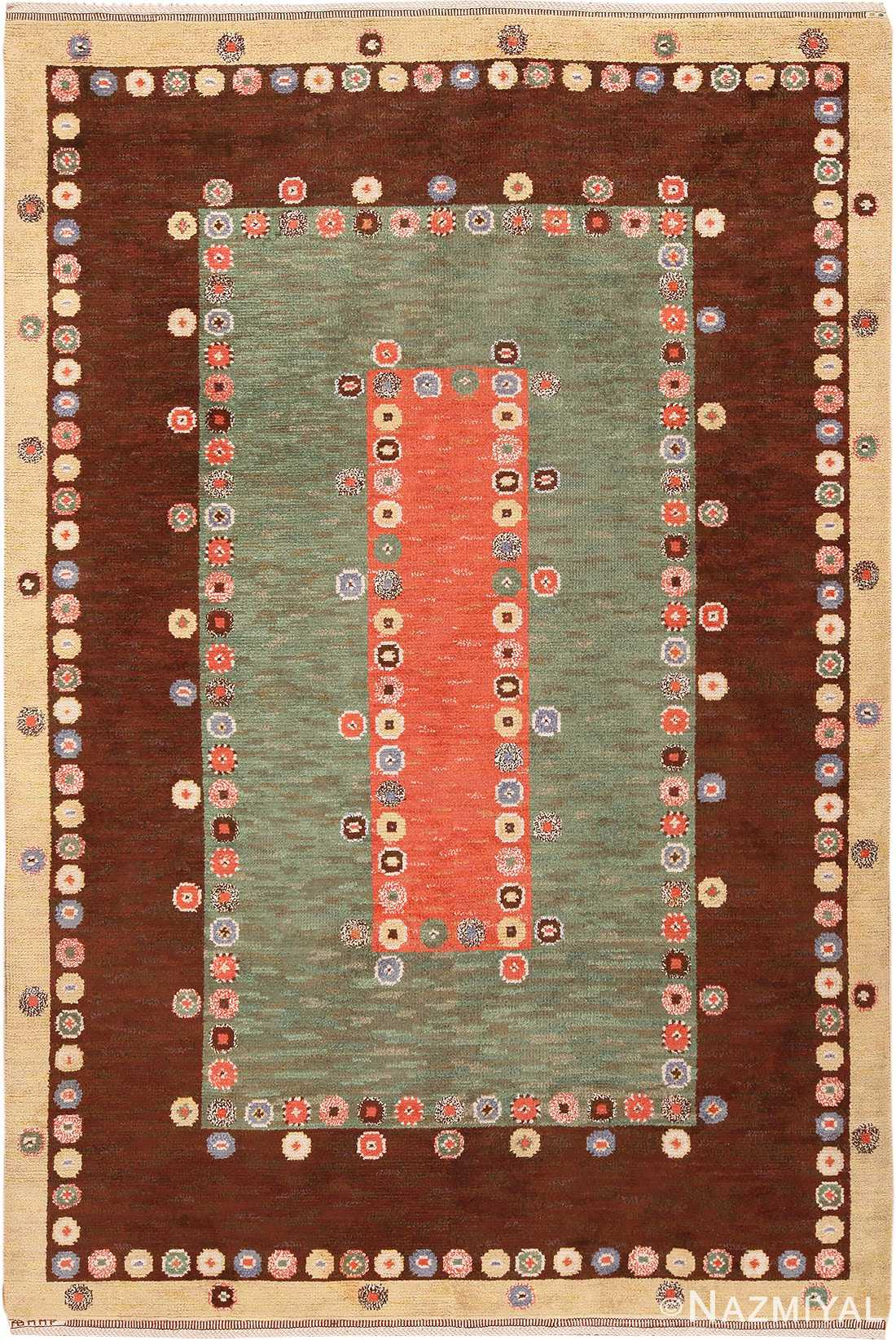 Vintage Scandinavian Marta Maas Fjetterstrom Carpet #70024 from Nazmiyal Antique Rugs in NYC