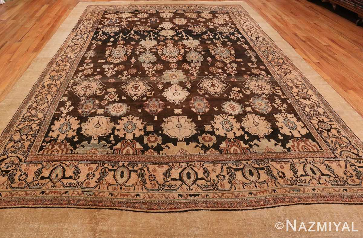 Allover Picture from The Front Of Brown Antique Persian Malayer Rug #48939 from Nazmiyal Antique Rugs in NYC