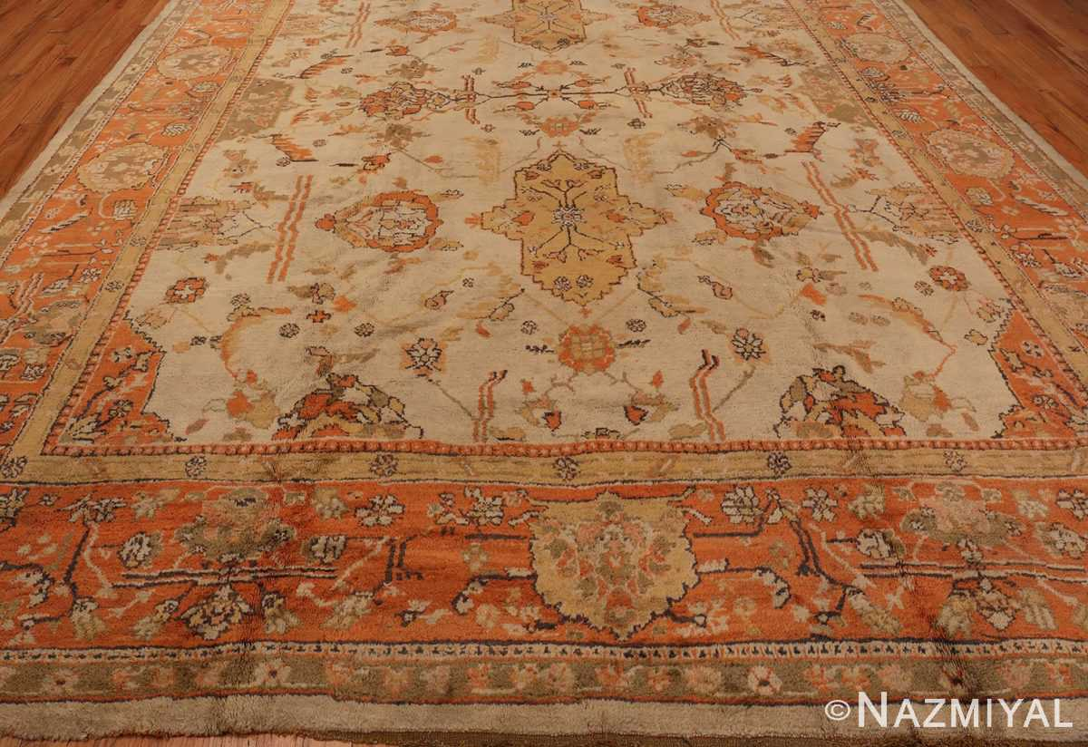 A Picture of Large Antique Turkish Oushak Rug #50674 from Nazmiyal Antique Rugs in NYC