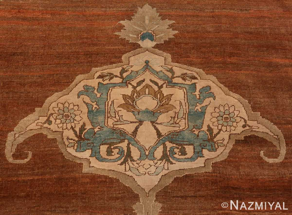 A detailed picture of the anchor of Large Antique Tabriz Persian Rug #48815 from Nazmiyal Antique Rugs in NYC