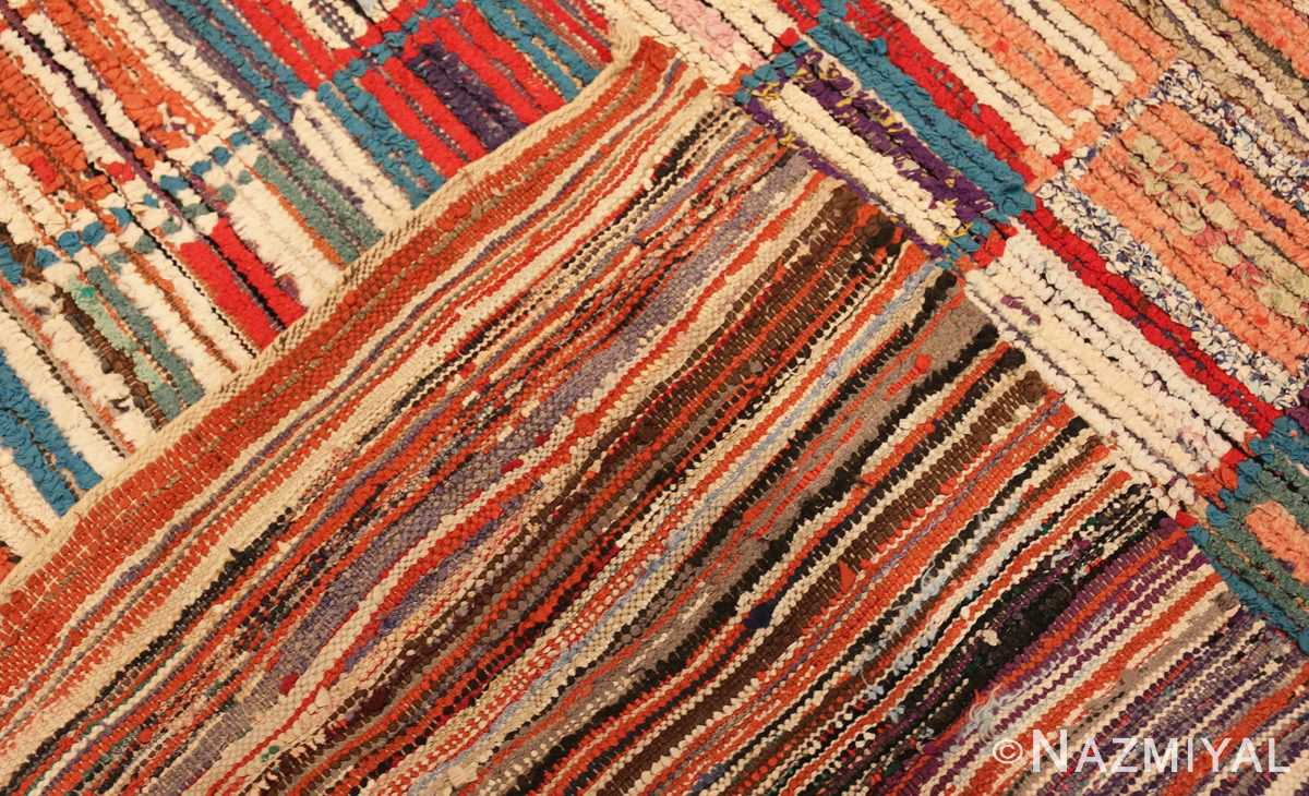 Picture of the back of Vintage Moroccan Rag Rug #45728 From Nazmiyal Antique Rugs In NYC