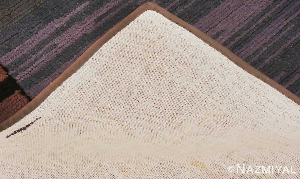 Picture of the backing of Light Blue Antique American Hooked Rug #70057 from Nazmiyal Antique Rugs in NYC