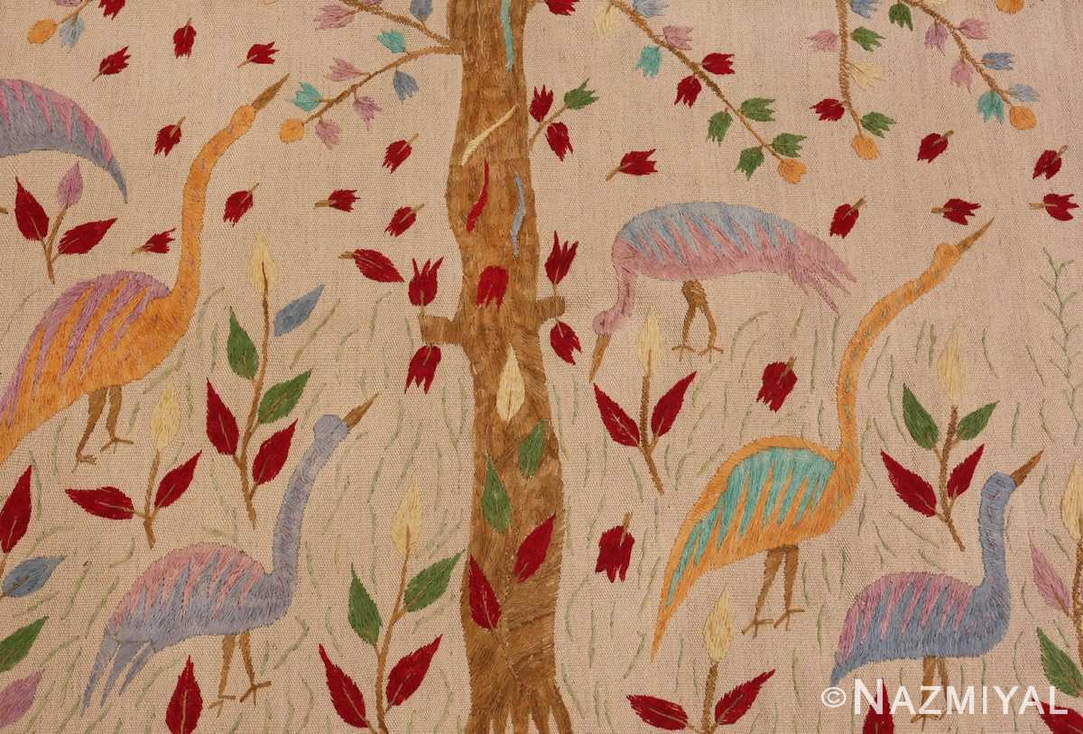 Picture of the birds in Vintage Garden of Paradise Indian Tapestry #70062 from Nazmiyal Antique Rugs in NYC