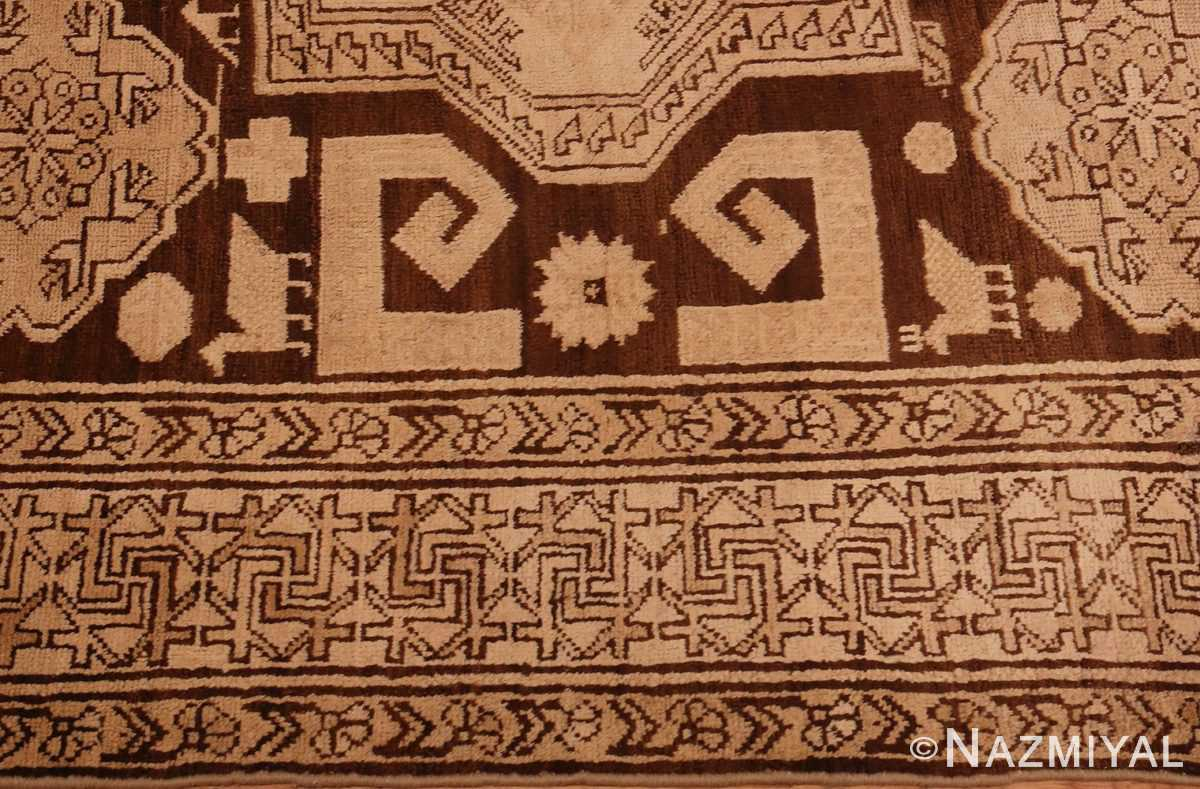 Picture of the border of Antique Caucasian Tribal Karabagh Rug #50494 from Nazmiyal Antique Rugs in NYC
