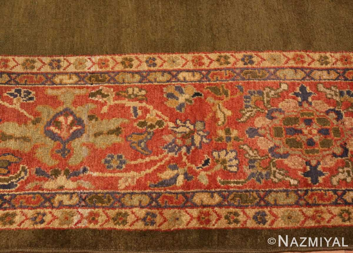 Picture of the border of Antique Green Persian Sultanabad Rug #50335 From Nazmiyal Antique Rugs In NYC
