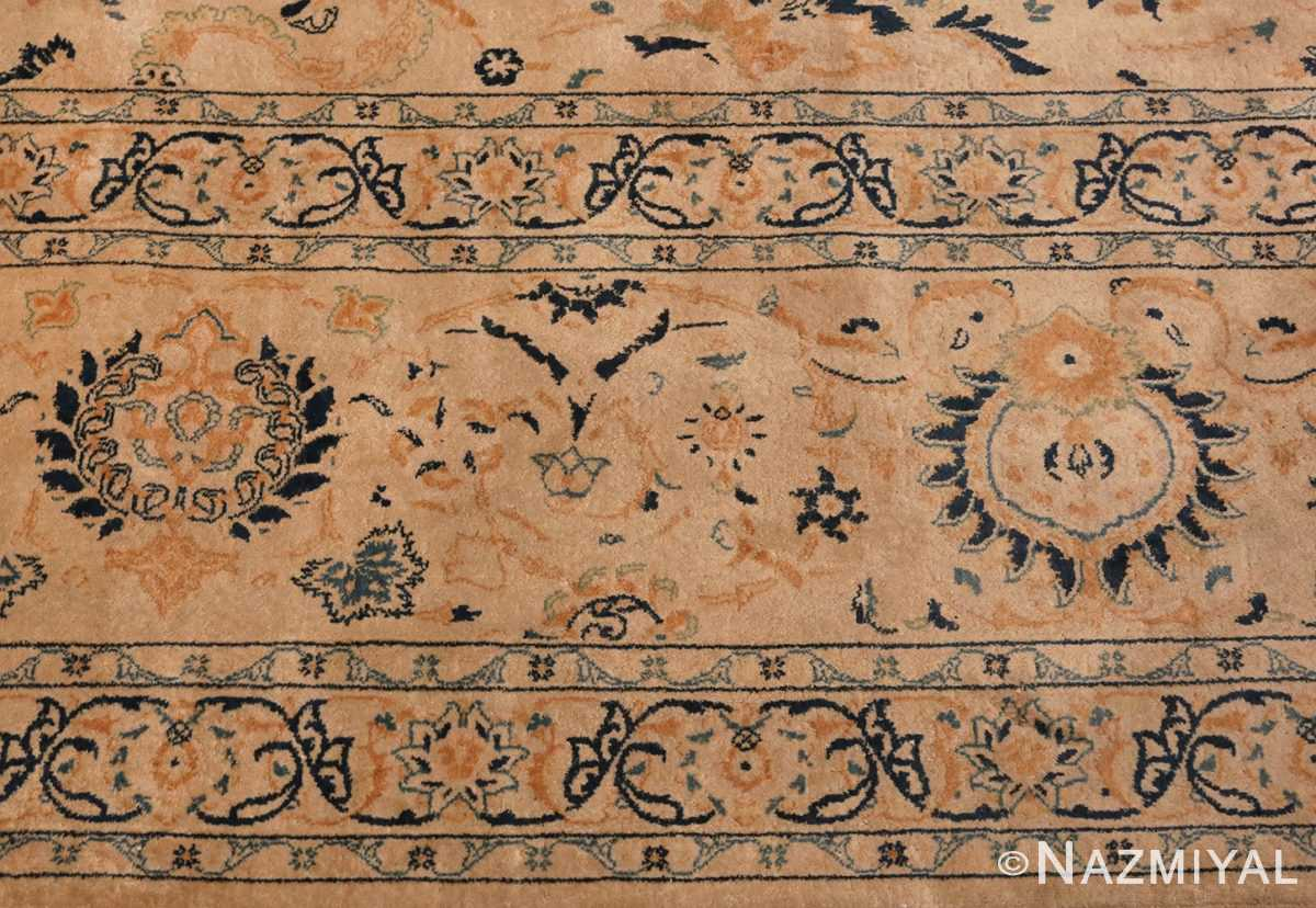 Picture of the Border Of Antique Persian Kashan Carpet #50115 from Nazmiyal Antique Rugs in NYC