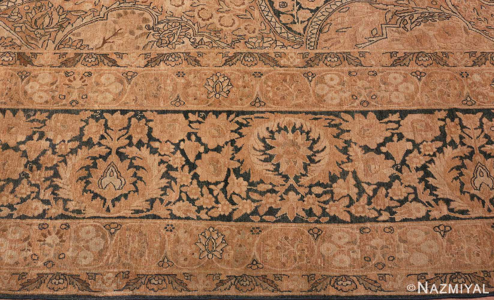 picture of the Border Of Antique Persian Kerman Rug #42703 from Nazmiyal Antique Rugs in NYC