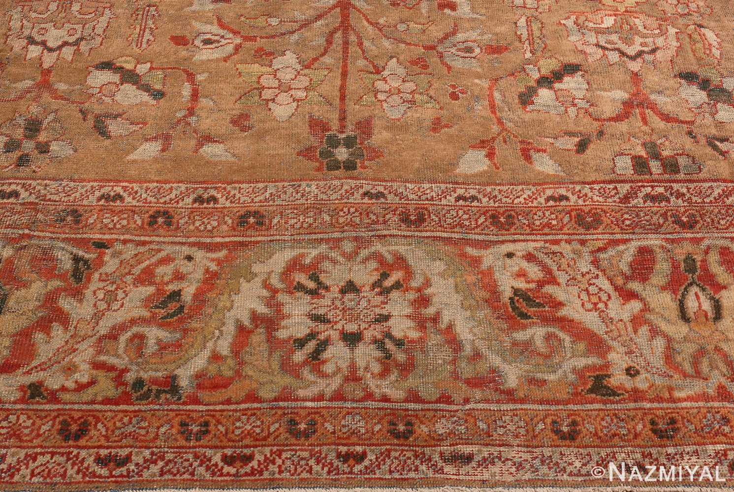 Picture of the Border Of Antique Persian Sultanabad Rug #48944 from Nazmiyal Antique Rugs in NYC
