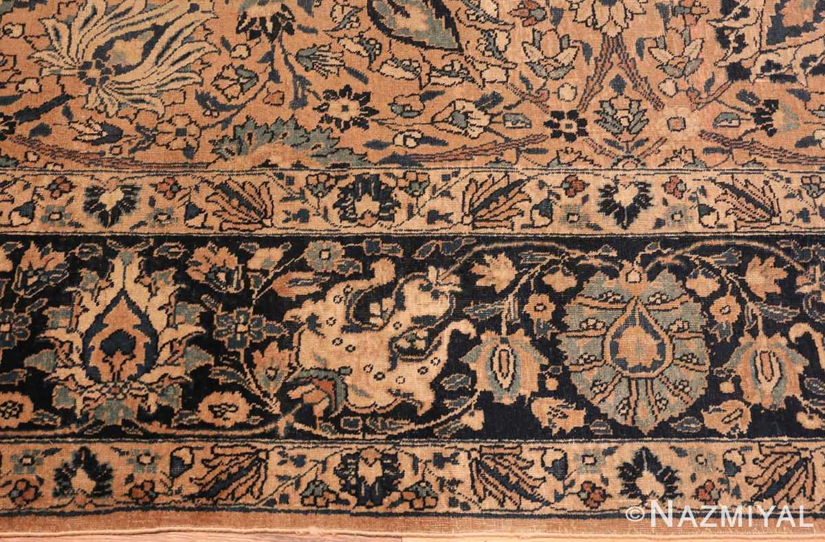 Picture of the border of Antique Tabriz Persian Rug #42055 From Nazmiyal Antique Rugs In NYC
