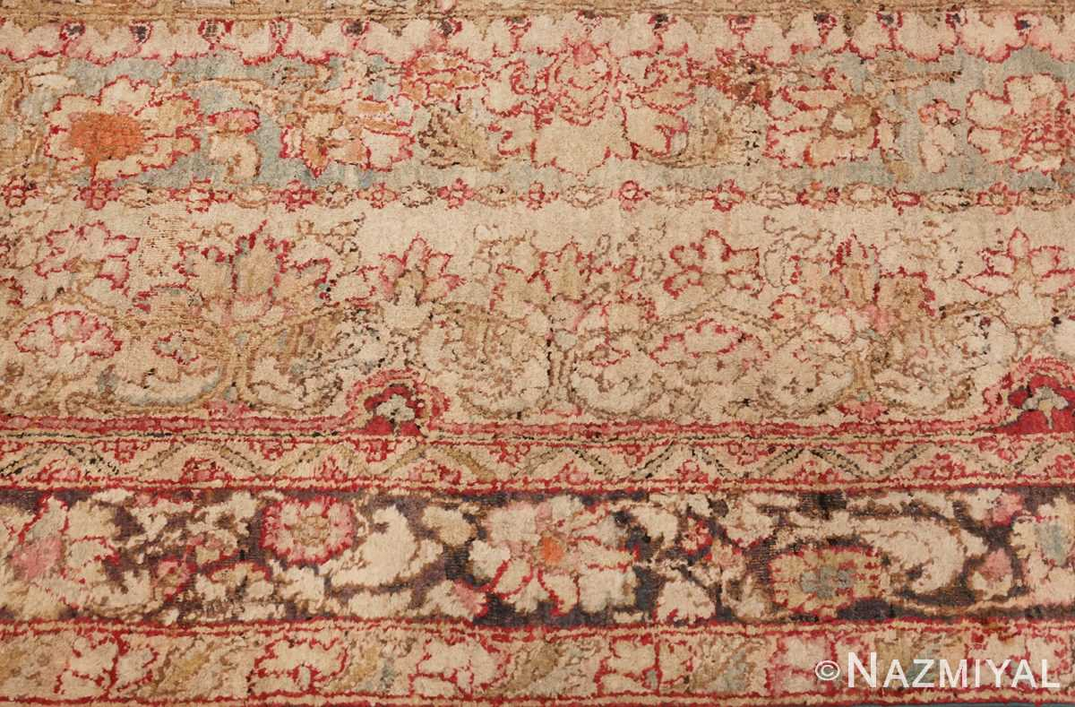 Picture of the Border of Large Antique Indian Agra Rug #48942 From Nazmiyal Antique Rugs In NYC