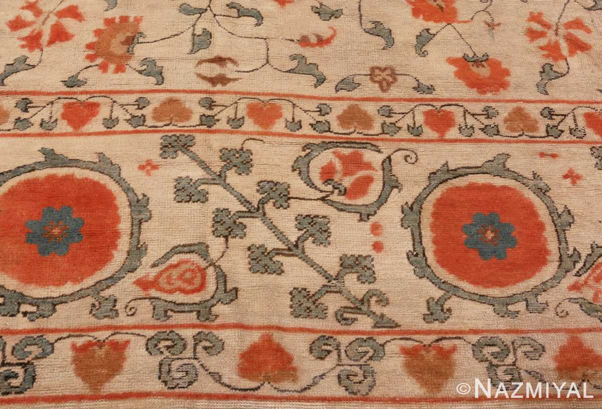 Picture of the Border of Large Oversized Antique Khotan Carpet #48219 From Nazmiyal Antique Rugs In NYC