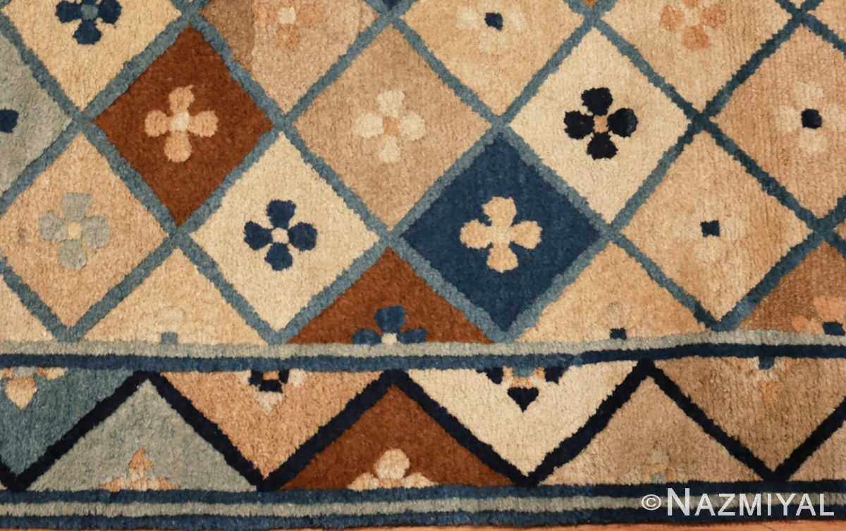 Picture of the Border of Small Antique Chinese Rug #46320 From Nazmiyal Antique Rugs In NYC
