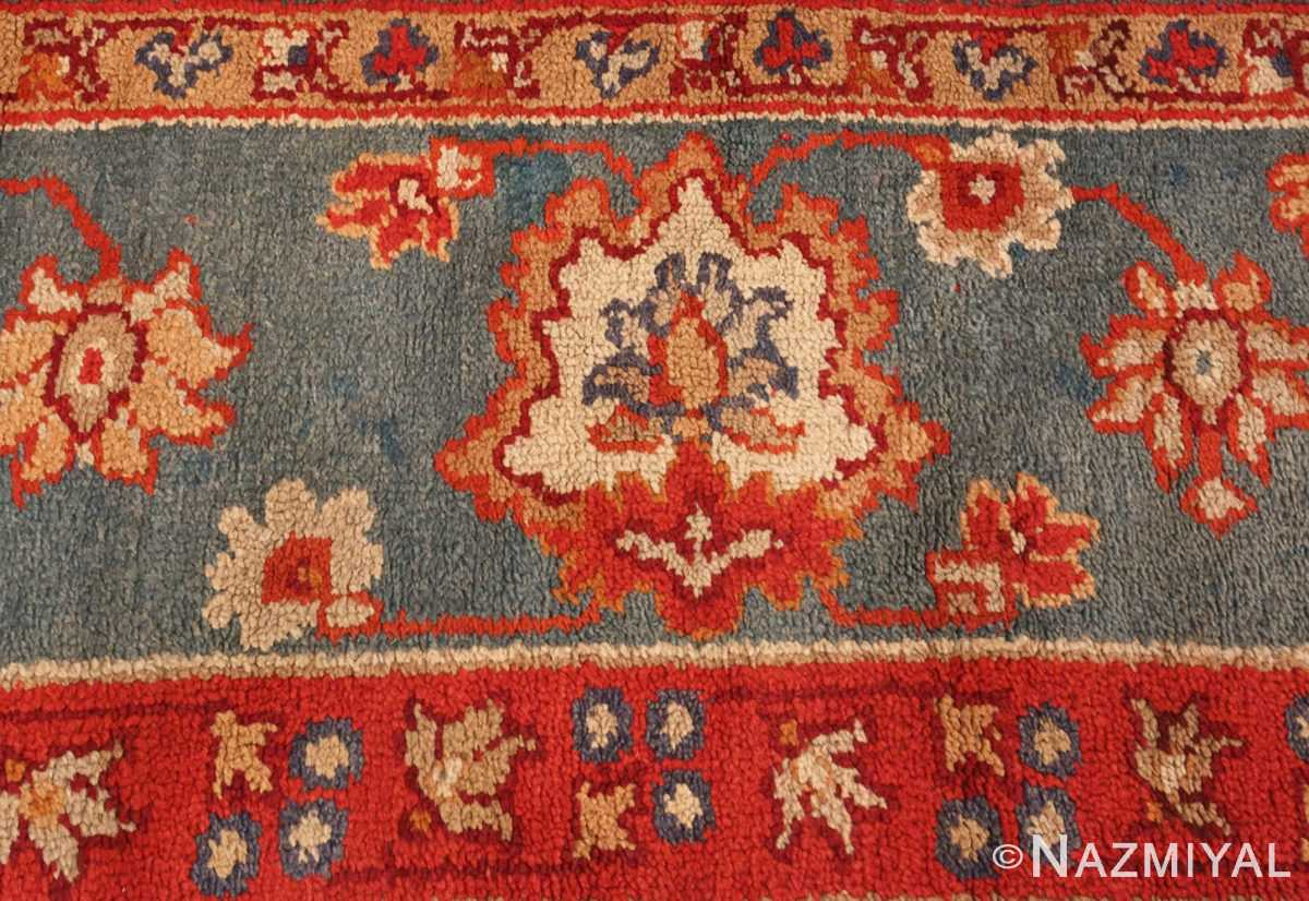 Picture of the Border of Square Size Antique Irish Donegal Rug #3328 From Nazmiyal Antique Rugs In NYC