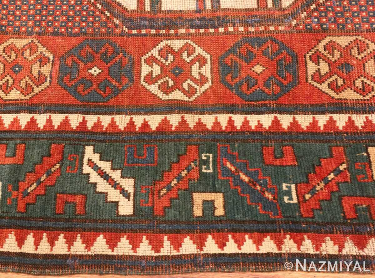 Picture of the Border of Tribal Antique Caucasian Karachopf Rug #70049 From Nazmiyal Antique Rugs In NYC