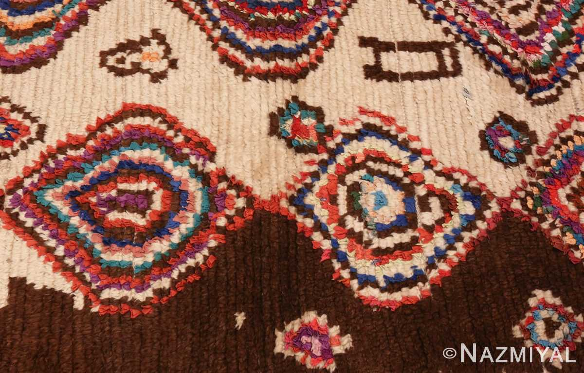 Picture of the Border of Vintage Mid Century Folk Art Moroccan Rug #46512 From Nazmiyal Antique Rugs In NYC