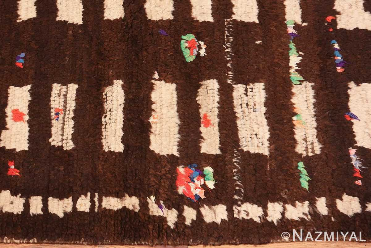 Picture of the Border Vintage Mid Century Moroccan Berber Rug #46441 From Nazmiyal Antique Rugs In NYC