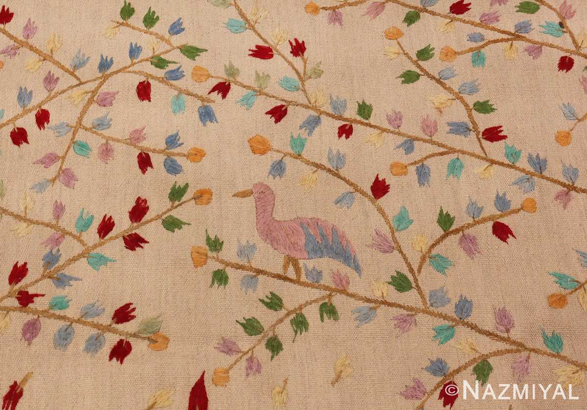 Picture of the branches of Vintage Garden of Paradise Indian Tapestry #70062 from Nazmiyal Antique Rugs in NYC